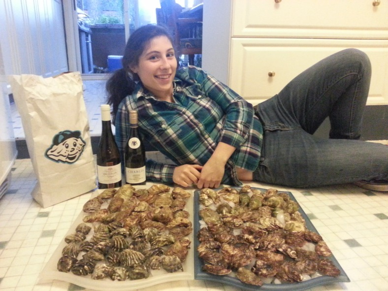 My 20th birthday: a whole lot of shucking and some great wine.